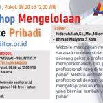 Personal Branding : Workshop Pengelolaan Website Pribadi