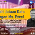 Audit Jutaan Data dengan Ms .Excel